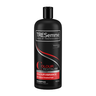 A 900ml bottle of TRESemmé Colour Revatalise Shampoo front of pack image