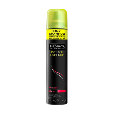 A 151g can of TRESemmé Instant Refresh Translucent Dry Shampoo front of pack image