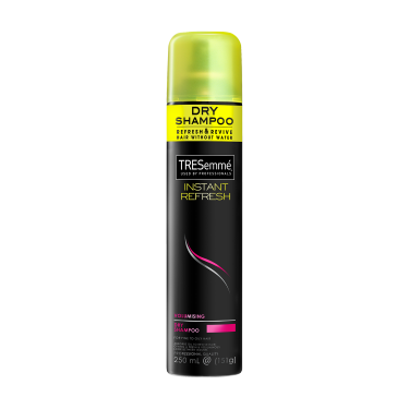 A 151g can of TRESemmé Instant Refresh Volumising Dry Shampoo front of pack image