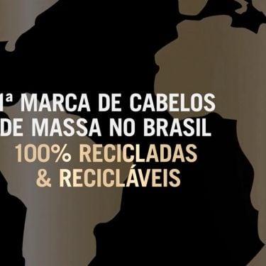 Primeira marca de cabelos no Brasil com embalagens 100% recicladas e recicláveis