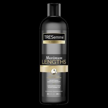 Image de l'avant de la bouteille de TRESemmé® Maximum Lengths Shampoo de 592 ml
