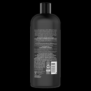 image de l'arrière de la bouteille de TRESemmé® Flawless Curls Shampoo de 828 ml