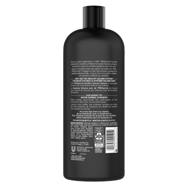 TRESemmé Healthy Volume Shampoo 828ml back of pack