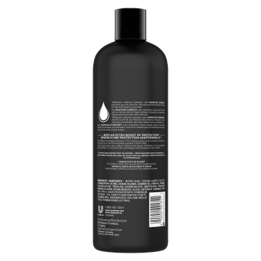 A 739 ml bottle of Ultimate Hydration Shampoo back of pack image