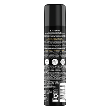 TRESemmé Root Touch Up Spray for Black Hair 70.8g back of pack