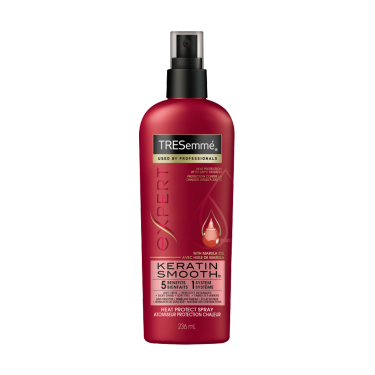 A 236 ml bottle of Keratin Smooth Heat Protection Shine Spray front of pack image