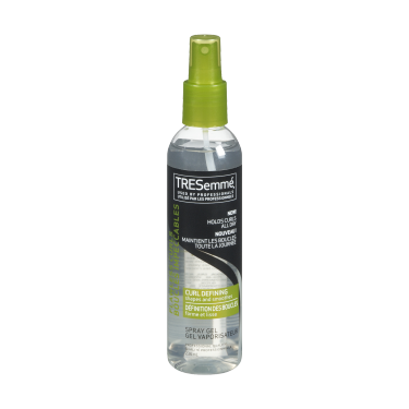 A 236 ml bottle of Curl Defining Spray Gel front of pack image
