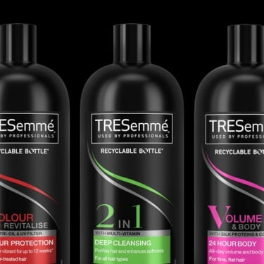 TRESemmé is leading the way on making black plastic recyclable