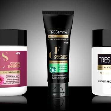 A selection of TRESemmé hair treatments, including hair masks and hair oils