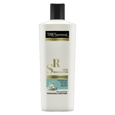 A 190ml bottle of TRESemmé Spa Rejuvenation Conditioner front of pack image
