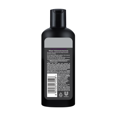 A 80ml bottle of Tresemme Hair Fall Defense Shampoo back of pack image