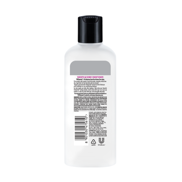 A 80ml bottle of Tresemme Smooth Shine Conditioner back of pack image
