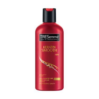A 80ml bottle of Tresemme Keratin Smooth Shampoo front of pack image