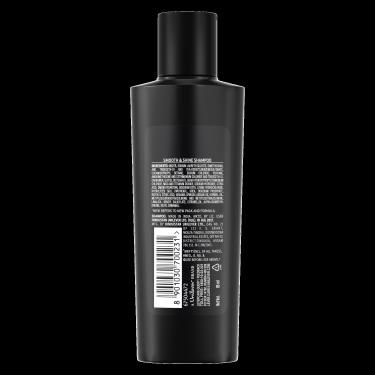 A 80ml bottle of TRESemmé Smooth Shine Shampoo back of pack image
