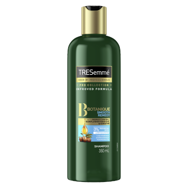 A 350ml bottle of TRESemmé Botanique Smooth Remedy Shampoo