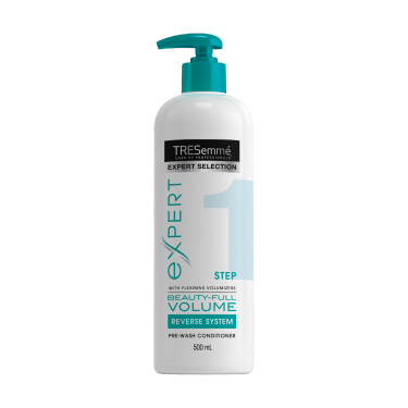 TRESemmé Expert Selection Pre-Wash Beauty-Full Volume Conditioner 500ml Front of pack image