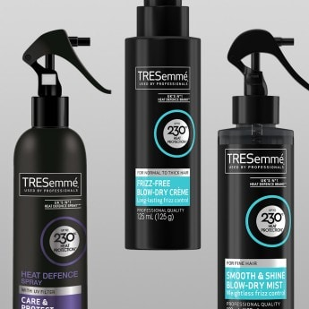 Product shot of the TRESemmé Heat Protection collection