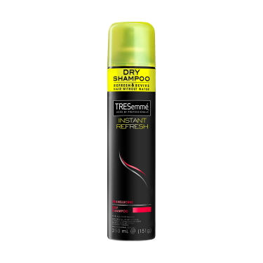 A 250ml bottle of TRESemmé Translucent Dry Shampoo front of pack image