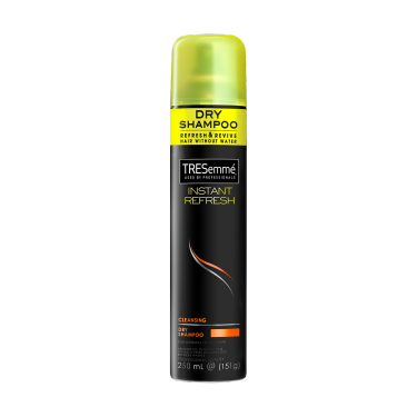 A 250ml bottle of TRESemmé Cleansing Dry Shampoo front of pack image
