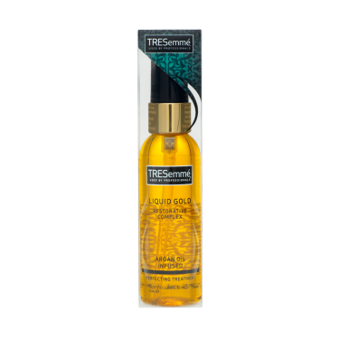 A 75ml bottle of TRESemmé Liquid Gold Oil front of pack image