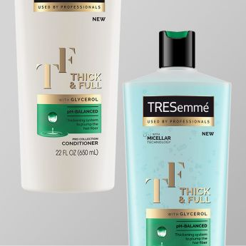 Product shot of TRESemmé Thick & Full.