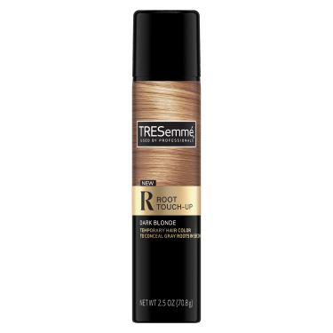 A 2.5oz can of TRESemmé Root Touch Up Spray for Dark Blonde Hair front of pack image