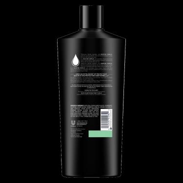 imagen al reverso del paquete - un envase de 22oz TRESemmé Ultimate Hydration Shampoo