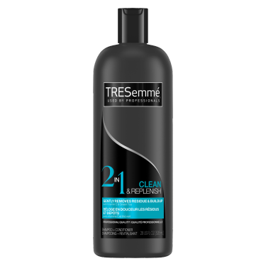 A 828 ml bottle of Cleanse and Replenish 2 in 1 Shampoo and Conditioner front of pack image