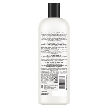 A 828 ml bottle of Moisture Rich Conditioner back of pack image