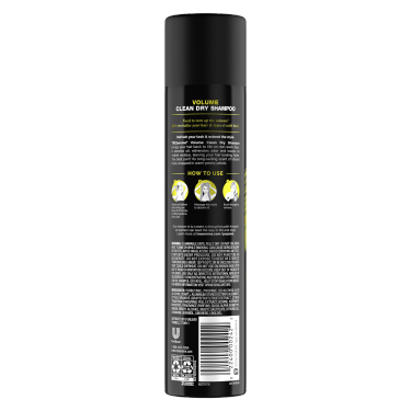 Volume Clean Dry Shampoo 7.3oz Back of Pack