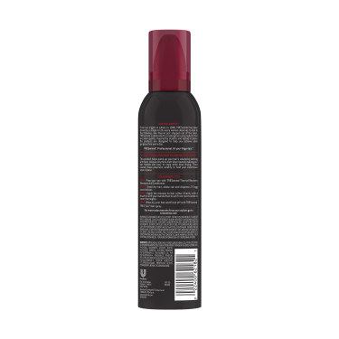 A 6.5oz can of TRESemmé Thermal Creations Volumizing Hair Mousse back of pack image