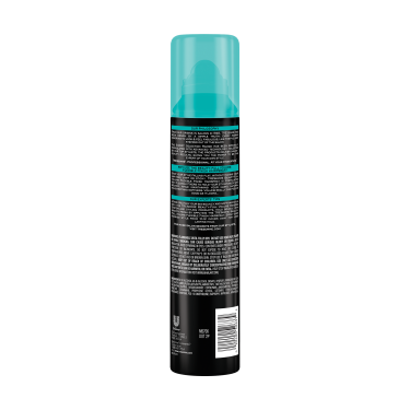 A 7.54oz can of TRESemmé Beauty-Full Volume Flexible Finish Hair Spray back of pack image