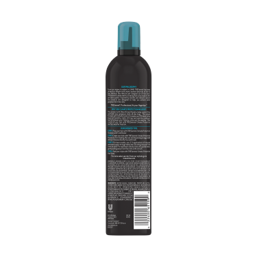 A 10.5oz can of TRESemmé Climate Control Hair Mousse back of pack image