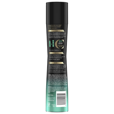 A 5.5oz bottle of Compressed Micro Mist Level 4 Hair Spray back of pack image