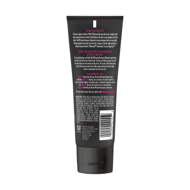 A 3.4oz bottle of TRESemmé Runway Collection Max the Volume Root Lifting Cream back of pack image