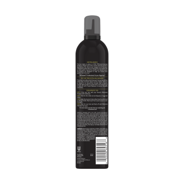 A 10.5oz can of TRESemmé TRES TWO Extra Hold Hair Mousse back of pack image