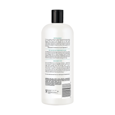 A 28oz bottle of TRESemmé Anti-Breakage Conditioner back of pack image