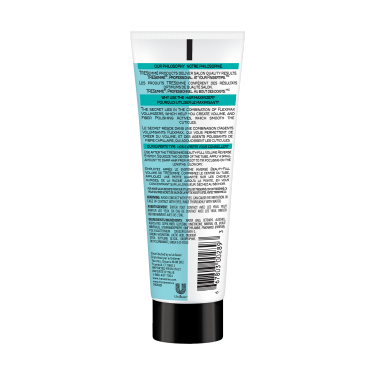 A 2.3oz bottle of TRESemmé Beauty-Full Volume Maximizer back of pack image