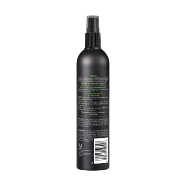 A 10oz can of TRESemmé TRES TWO Curl Locking & Scrunch Hair Spray back of pack image
