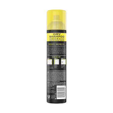A 4.3oz can of TRESemmé Fresh Start Basic Dry Shampoo back of pack image