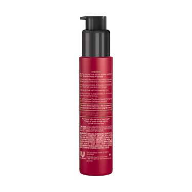 A 3oz bottle of TRESemmé 7 Day Keratin Smooth Heat Activated Treatment back of pack image