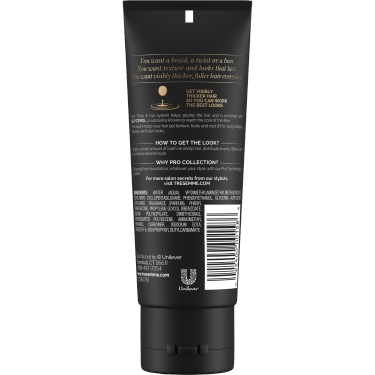 imagen al reverso del paquete - un envase de 3.4oz TRESemmé Thick & Full Balm