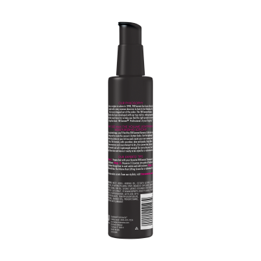 A 7.3oz can of TRESemmé Runway Collection Max the Volume Lightweight Moisturizing Lotion back of pack image