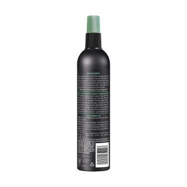 A 10oz bottle of TRESemmé Split Remedy Leave-in Conditioner Spray back of pack image