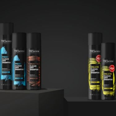 TRESemme's Dry Shampoos sitting on a table