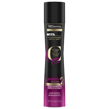 A 5.5oz bottle of TRESemmé Compressed Micro Mist Level 2 Hair Spray front of pack image