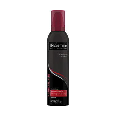 A 6.5oz can of TRESemmé Thermal Creations Volumizing Hair Mousse front of pack image