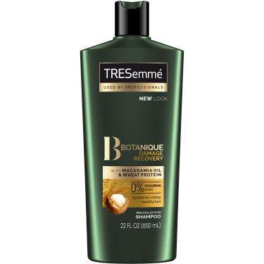 A 22oz bottle of TRESemmé Botanique Damage Recovery Shampoo for Damaged Hair front of pack image
