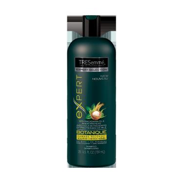 Imagen al frente del paquete - un envase de 25 oz TRESemmé Botanique Damage Recovery Shampoo