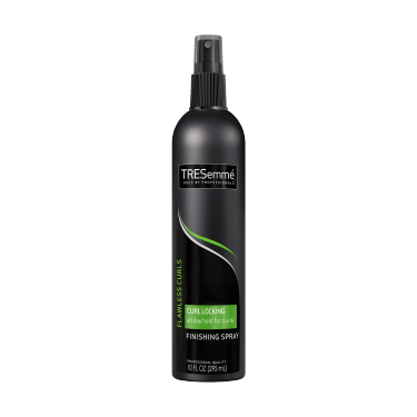 A 10oz can of TRESemmé TRES TWO Curl Locking & Scrunch Hair Spray front of pack image